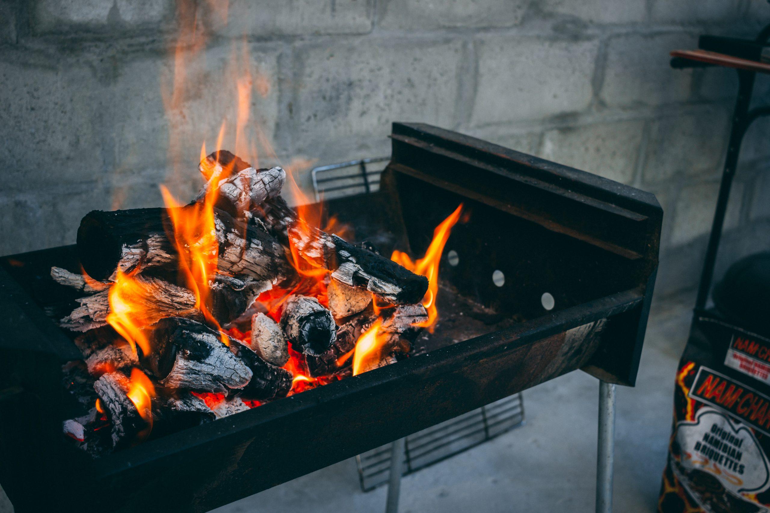 braai fire with coals