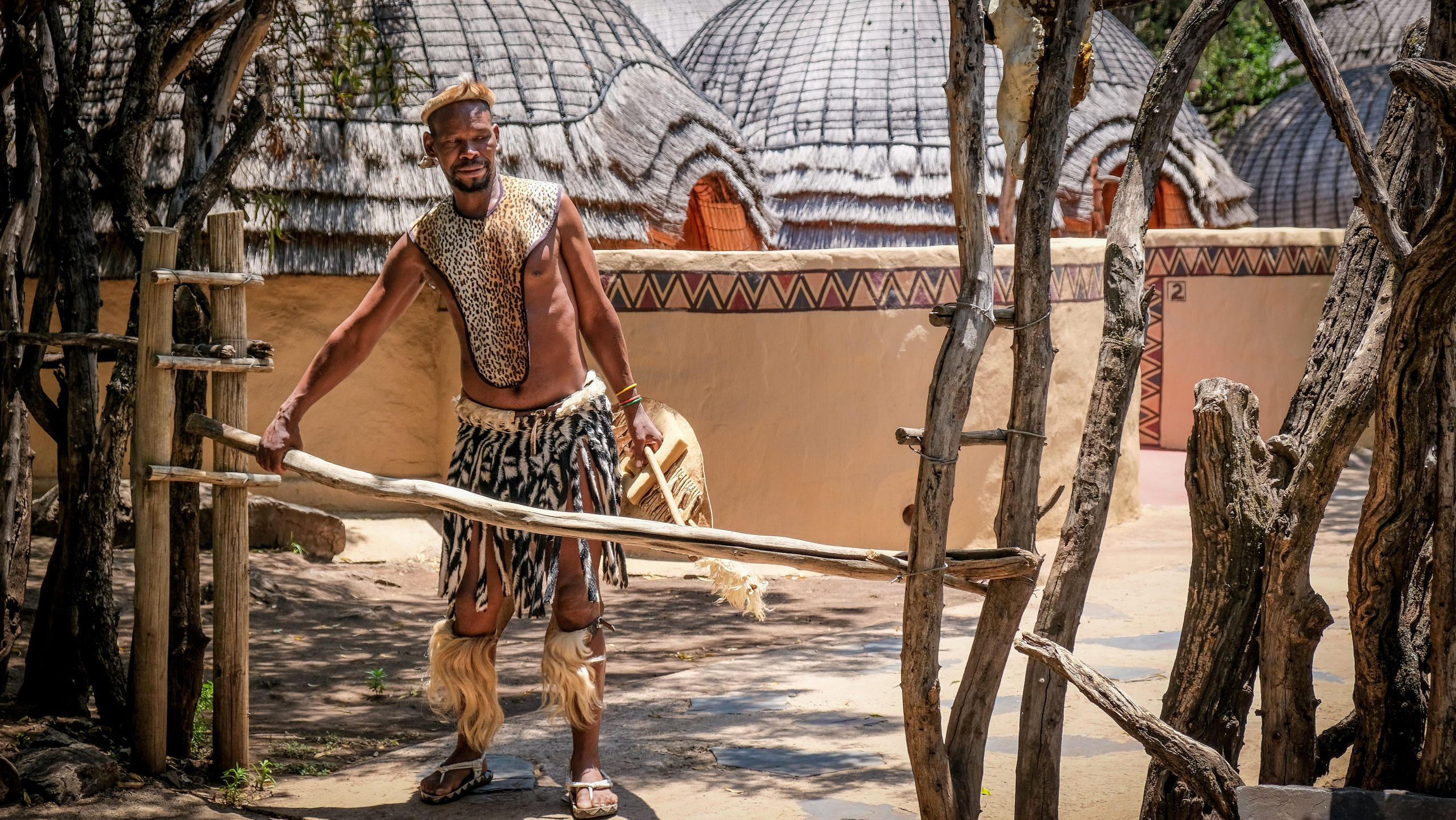 traditional zulu man - visit south africa